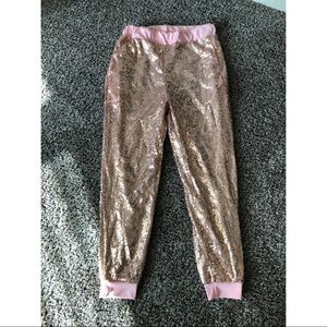 Pants - Pink Sequin Joggers